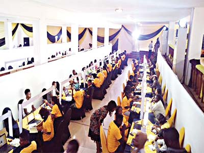 An ongoing SIM re-registration exercise venue