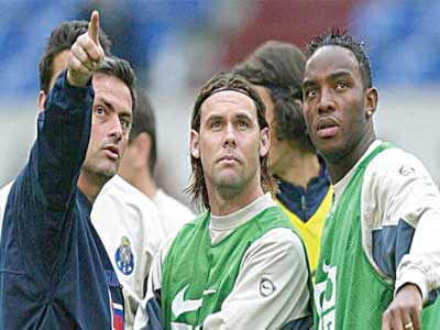 Jose Mourinho (left) and Benni McCarthy (right) won the Portuguese league twice and the Champions League while at Porto