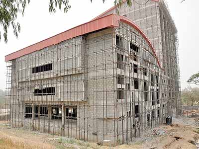 On-going construction work at the NBA Abuja House in the Central Business District, Federal