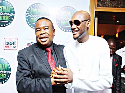 COSON Chairman Chief Tony Okoroji and 2Baba at the 2015 NECLive.