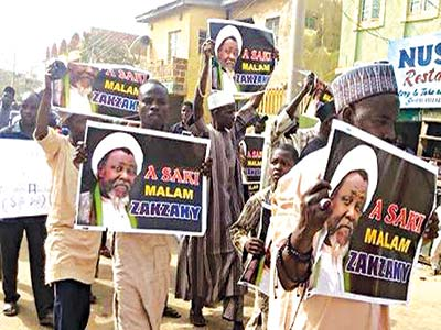Shiites protesting against El-Zakzaky's detention in some cities across northern Nigeria