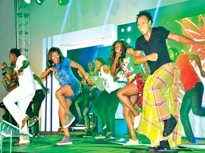 A scene from Love Is... The Muscial 3 staged at the Eko Hotel, Victoria Island, Lagos.