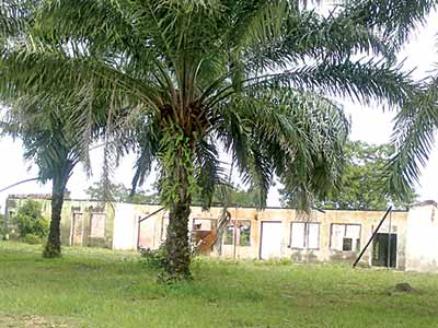 A dilapidated school building in Calabar