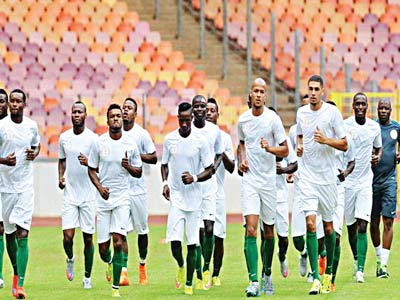 The Super Eagles may not play any international friendly before they meet Egypt in a two-legged Gabon 2017 African Nations Cup qualifier …next month. PHOTO: AFP.