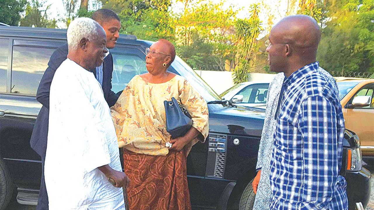 General Adeyinka Adebayo (left); Oboden Ibru; Mama Dupe Adebayo and Dr. Paul Ibru