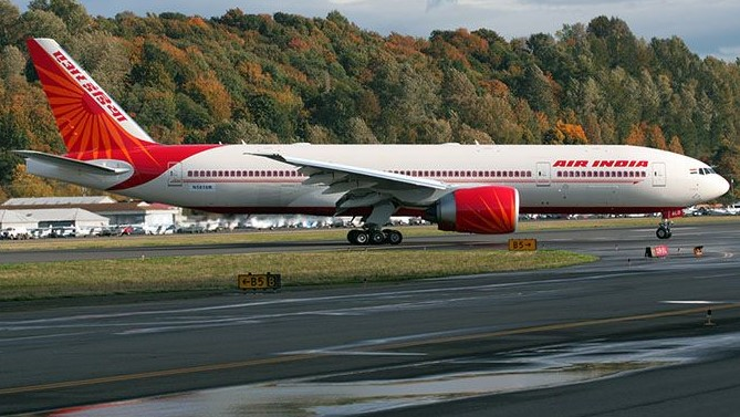 File photo of Air India's Boeing 777-200LR. Photo: Rick Schlamp/ Wikipedia