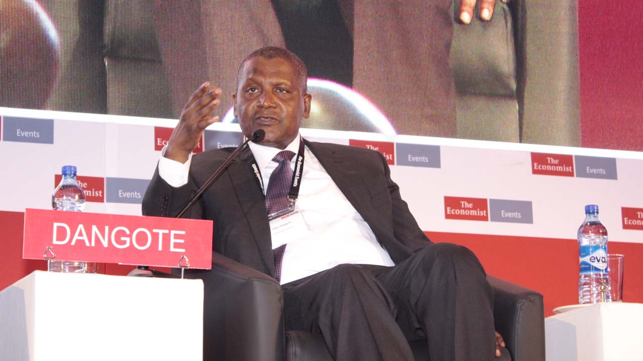 Aliko Dangote speaking at the Economic Summit held at the Intercontinental Hotel, Victoria Island, Lagos on Monday, March 7, 2016.