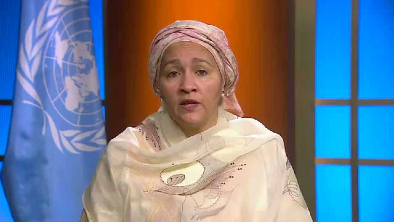 Environment Minister, Amina Mohammed PHOTO: www.youtube.com