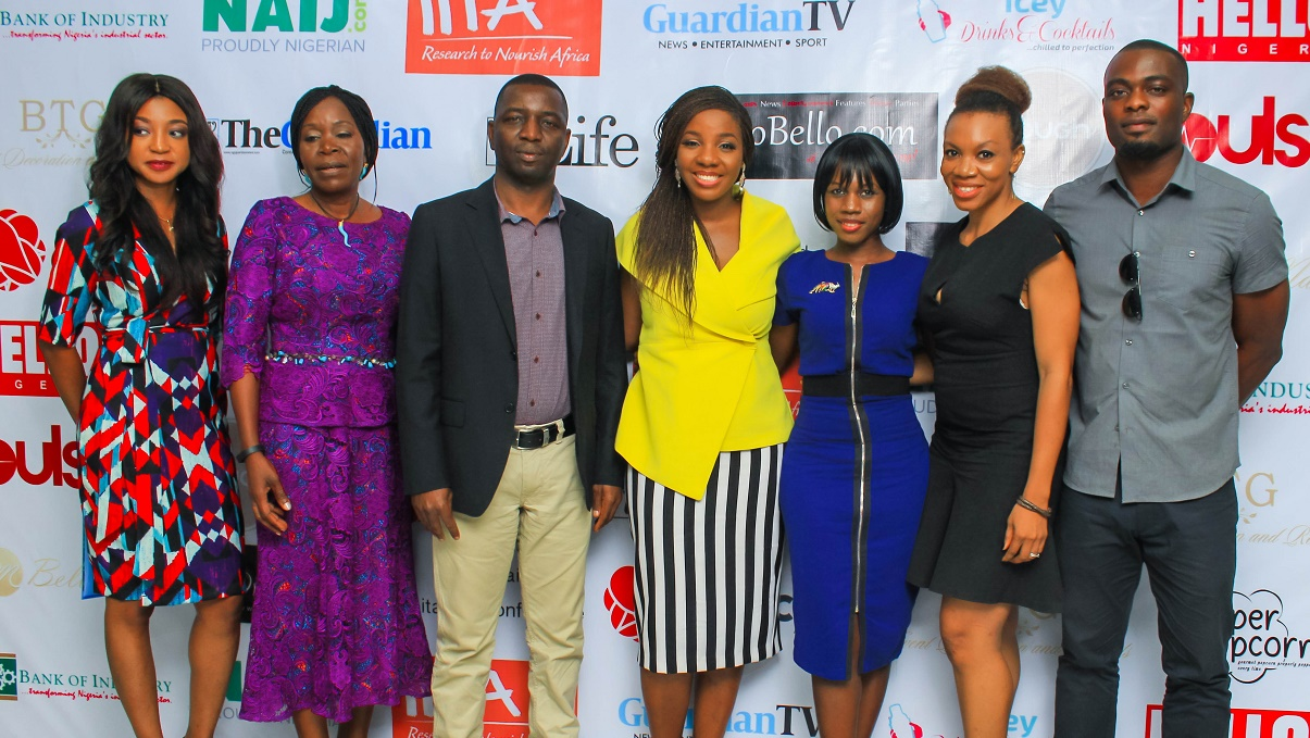 Ms. Angel Adelaja, founder of Fresh Direct, We Farm Africa and former Senior Special Adviser to the President on Wealth creation, Mrs Olusola Sowemimo, founder Ope Farms, Mr. Adeniji Kolawole, Group Managing Director, Niji Group, Omilola Oshikoya, convener of the workshop, Toluwalola Kasali, moderator of panel discussion, Mrs. Amaka Onyejianya, Co-founder Uwa Earth foods, Mr. Seun Abolaji, founder Wilson's Juice Co.