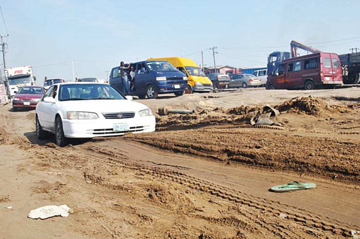 Deplorable state of Ishasi Junction on Badagry Expressway