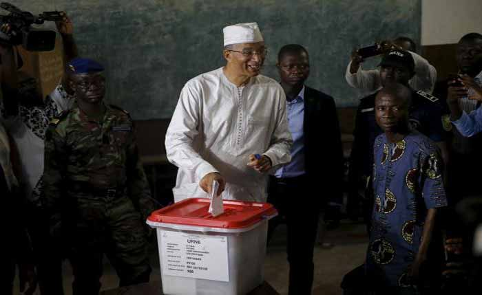 Benin-Prime-Minister-and-Presiential-Candidate, Lionel-Zinsou,-casting-his-vote-in-run-off-Election-on-Sunday.