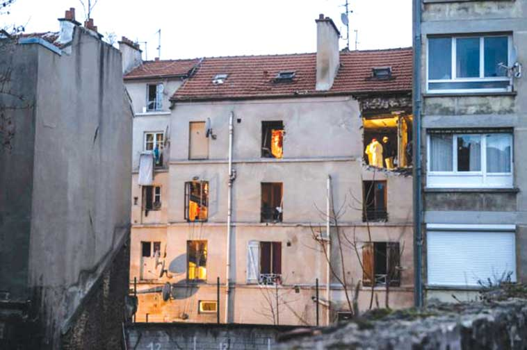French security forces fired thousands of rounds at the flat in St Denis where Abaaoud took refuge PHOTO: BBC