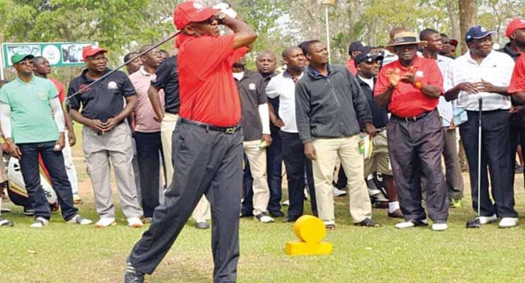 Former Senate President, David Mark, loves playing golf