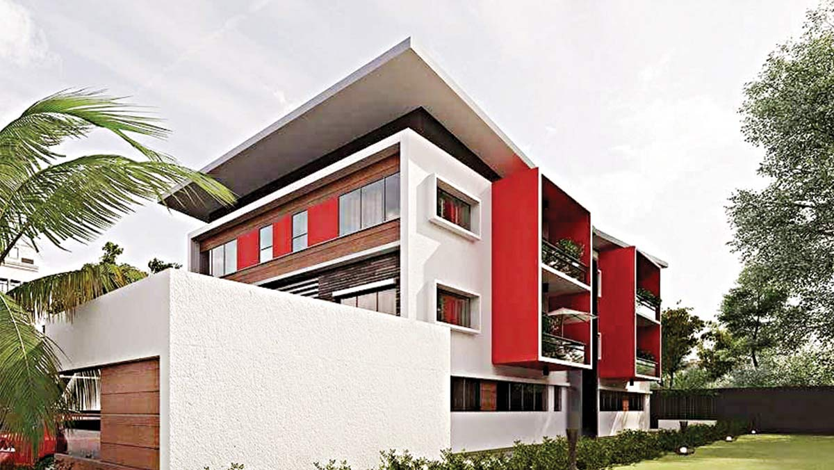 Artist impression of apartments at the estate
