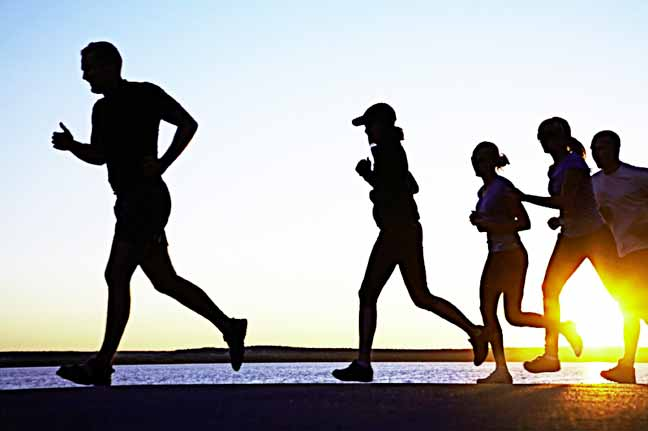 Jogging... You do not have to build up a good sweat to improve your chances of living longer; just an extra 10 minutes of light activity per day can make a difference PHOTO CREDIT; google.com/search