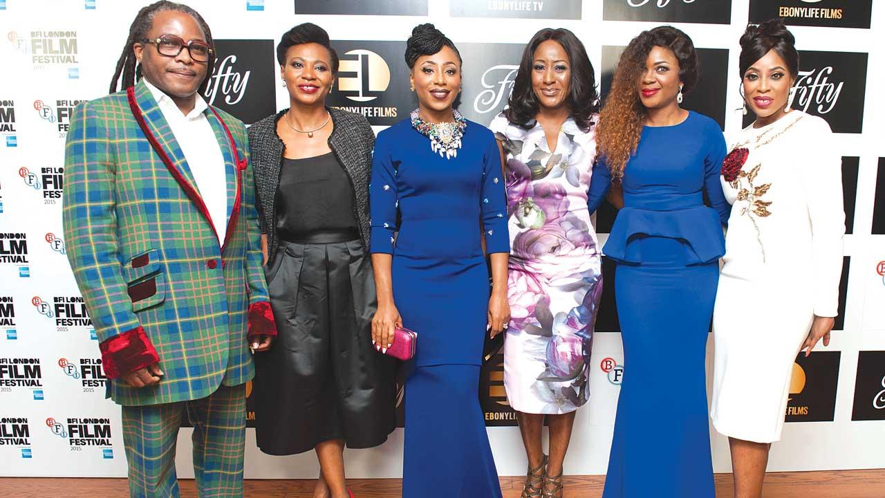 From left: Biyi Bandele, Nse Ikpe Orji, Dakore Akande, Ireti Doyle, Omoni Oboli, and Mo Abudu during the BFI London Film Festival.