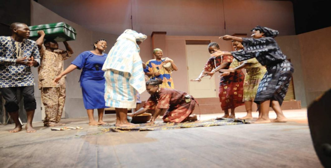 A scene from the play