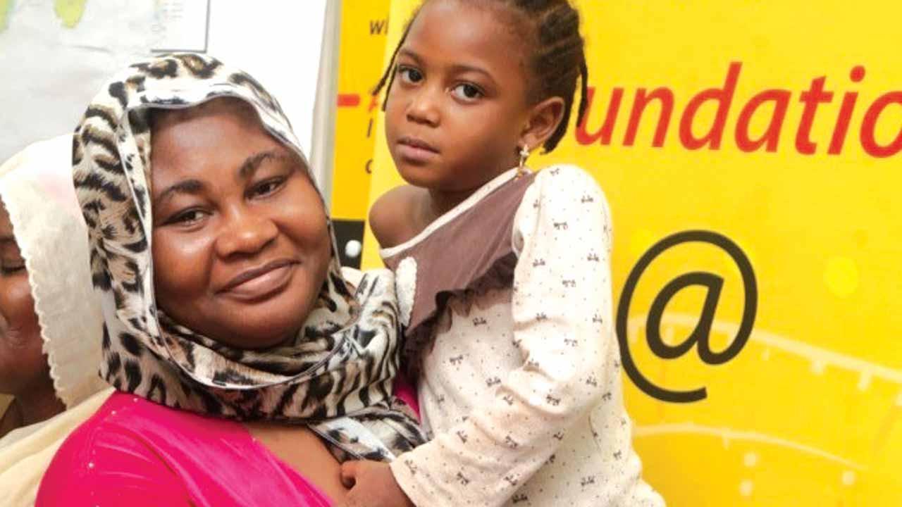 Fatima with mother, Hadiza