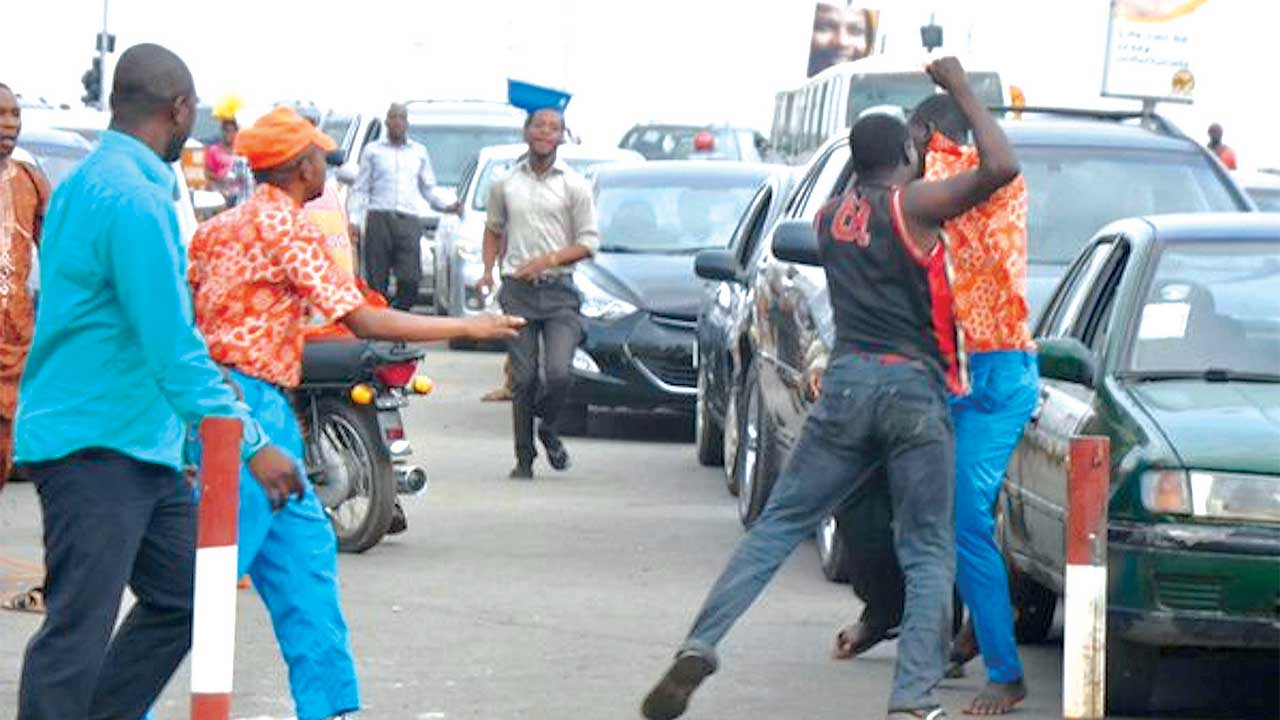 Fists for fists as fuel scarcity fuels temper.