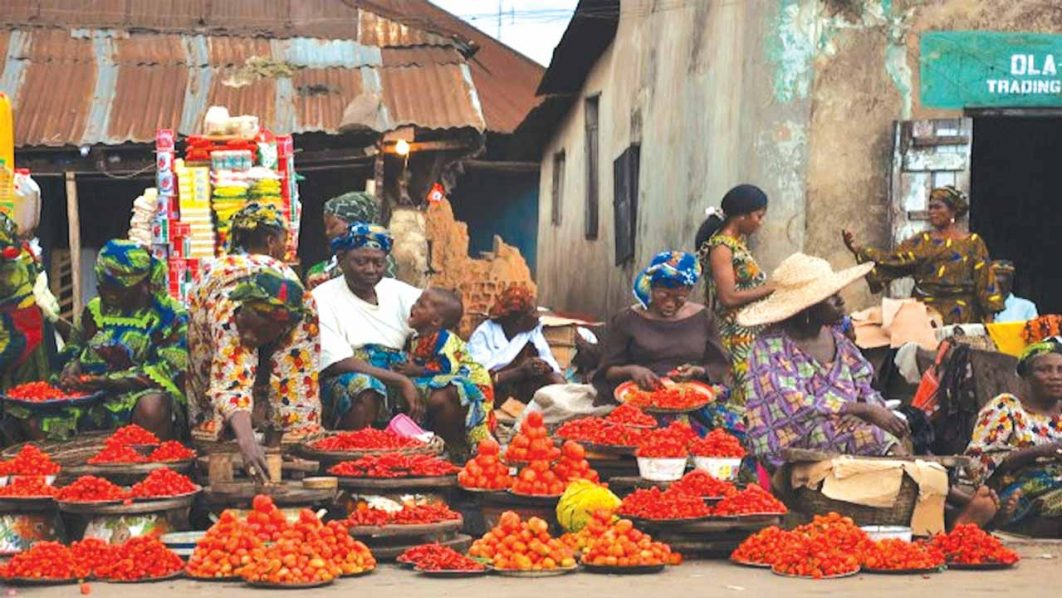 Traders  at Egbeda Market