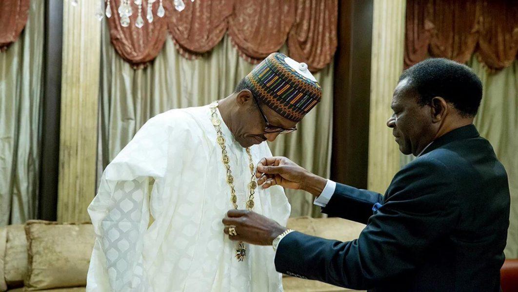President Muhammadu Buhari in Equtorial Guinea.