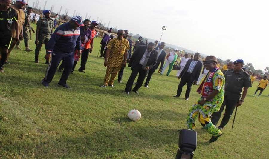 Ifeanyi Ubah kickstart a Match in Anambra State.