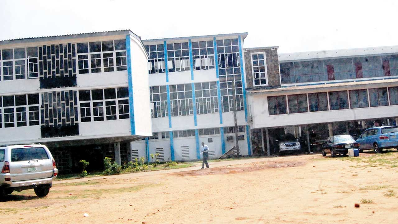 State High Court Iyaganku, Ibadan, Oyo State undergoing renovation.                             PHOTO: NAJEEM RAHEEM