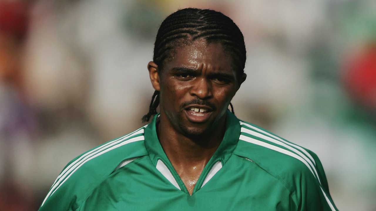 Kanu Nwankwo in his playing days…His Soccer Academy is set to train 400 Nigerian children in Canada