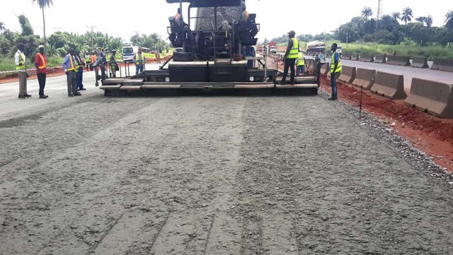 A portion of Lagos-Ibadan Expressway being reconstructed. PHOTO: NAN