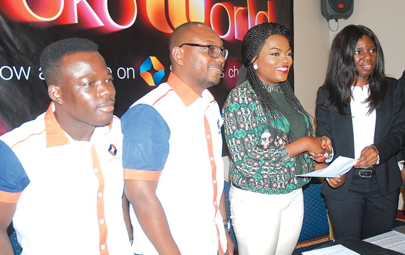 Startimes Public Relation Manager, Israel Bolaji (left); Marketing Director, Startimes, Dare Kafar; Brand Ambassador, Irokoworld, Funke Akindele; and Group Head Legal/COO IrokoWorld, Uloma Onuma at the recent unveiling of Funke Akindele as Irokoworld Brand Ambassador… in Lagos