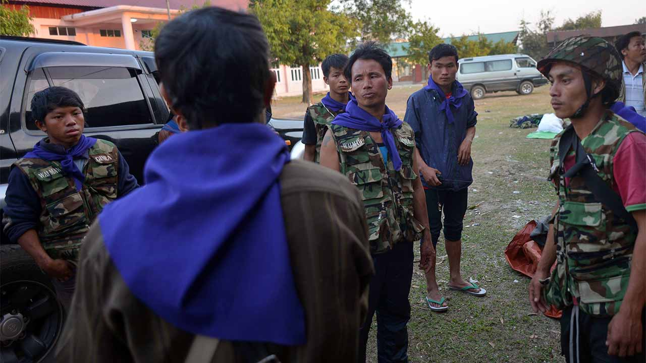 Myanmar police: AFP