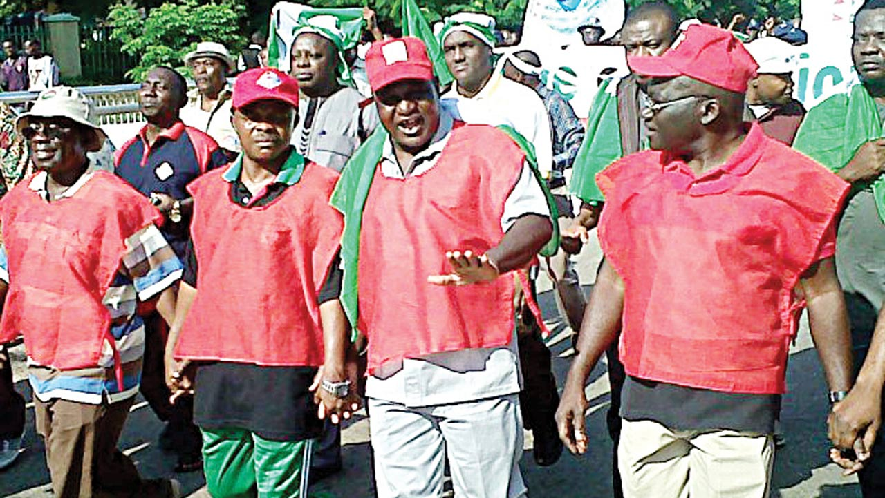 NLC members at a protest