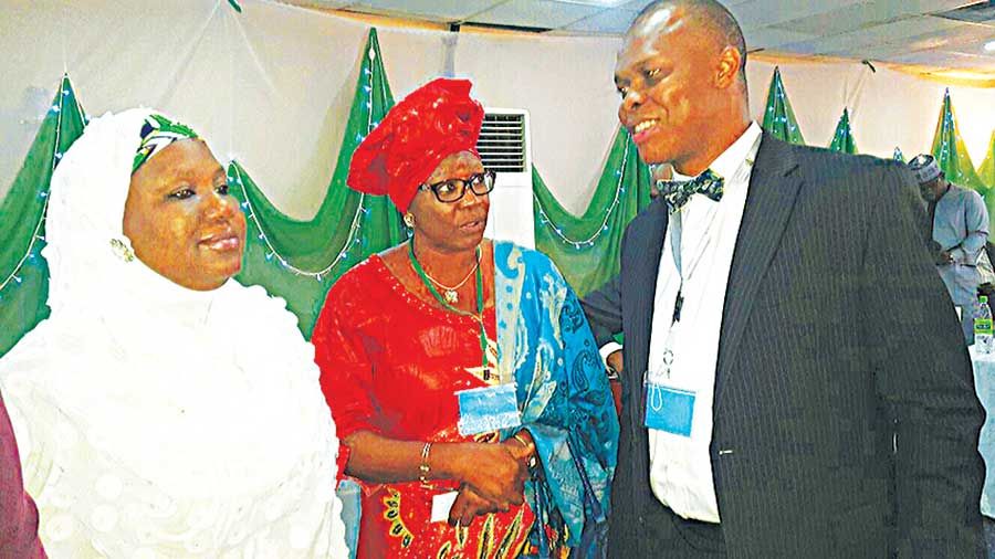 Permanent Secretary, Federal Ministry of Health, Dr. Amina Shamaki (left); Director, Food and Drugs, Federal Ministry of Health, Mrs. Gloria Chukwumah; and Chief of Party, Promoting the Quality of Medicines programme, United States Pharmacopeia, Dr. Chimezie Anyakora, during the National Council on Health in Sokoto last week