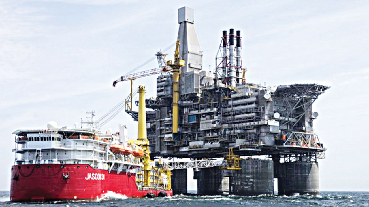 An oil platform offshore Nigeria