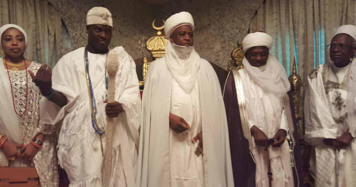 Ooni of Ife, Oba Adeyeye Ogunwusi visited the Sultan of Sokoto