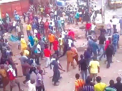Scene of the fracas...yesterday
