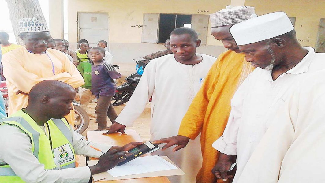 Presiding Officer, accrediting voters on Saturday, during Local Government Election in Sokoto. PHOTO: NAN