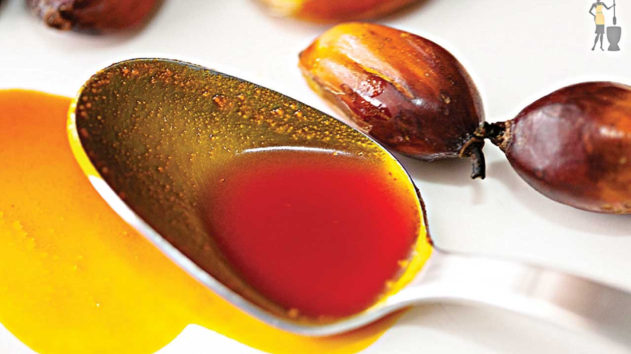 Red palm oil...The colourful oil is rich in tocotrienols, nutrients in the vitamin E family, and carotenoids, which the body converts into vitamin A. Several studies suggest possible benefits in stroke and liver disease from vitamin extracts made from the oil.                                                                                                                                                                         PHOTO CREDIT: google.com/search
