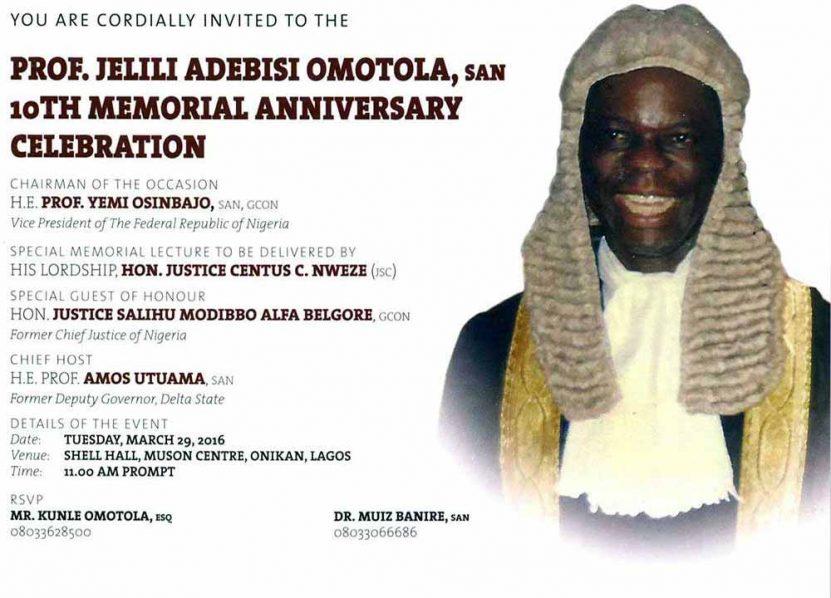 Prof. Jelili Adebisi Omotola