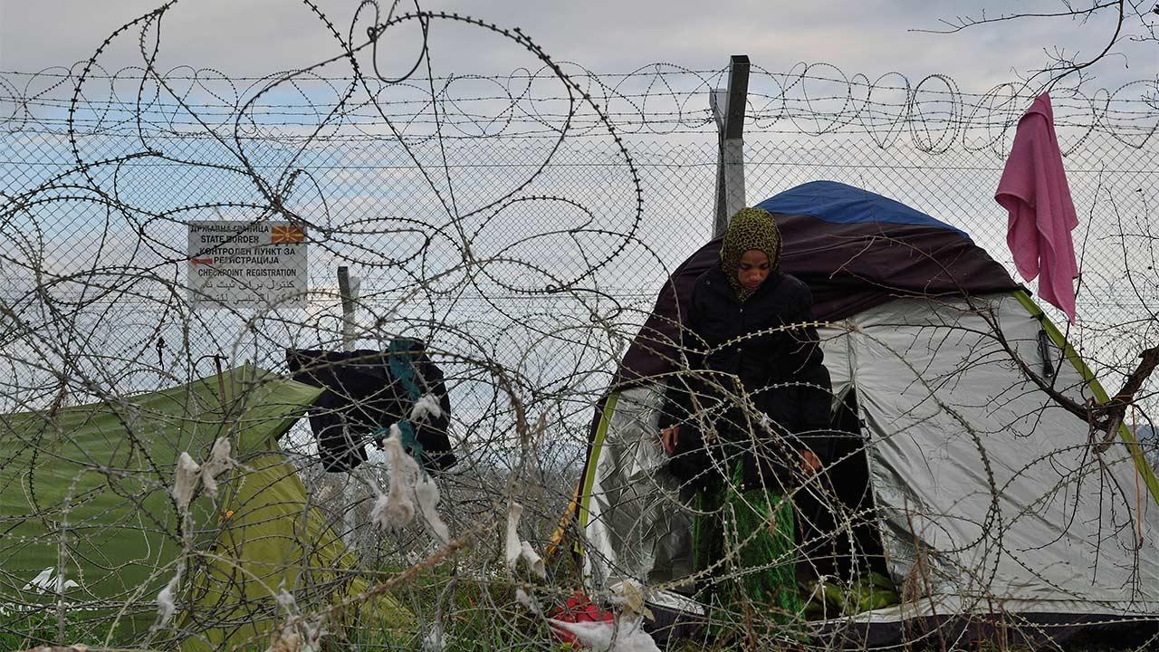 Idomeni refugee camp on the Greek-Macedonian