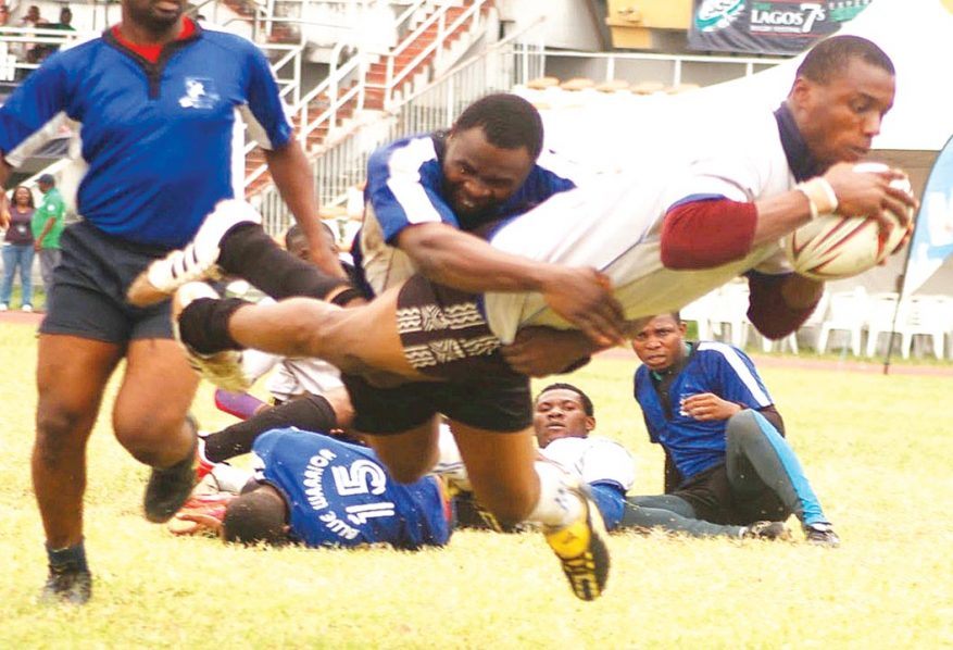 Action from the last Lagos Rugby 7's