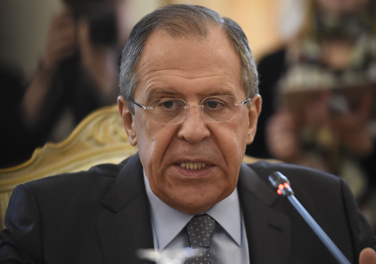 Russian Foreign Minister Sergei Lavrov speaks during a meeting with his Chinese counterpart in Moscow, on March 11, 2016. AFP PHOTO / ALEXANDER NEMENOV / AFP / ALEXANDER NEMENOV