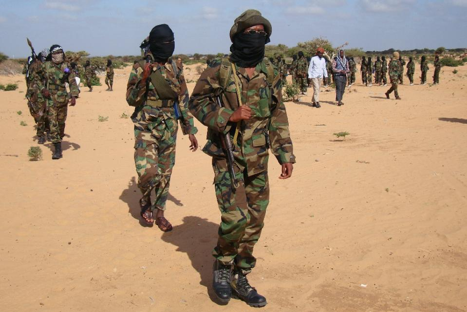 Somalia's Al-Qaeda-affiliated Shebab rebels -- who are fighting to overthrow the country's internationally-backed government -- said they carried out the attack in Galkayo, in a statement broadcast on the insurgents Radio Andalus (AFP Photo/Mohamed Abdiwahab)