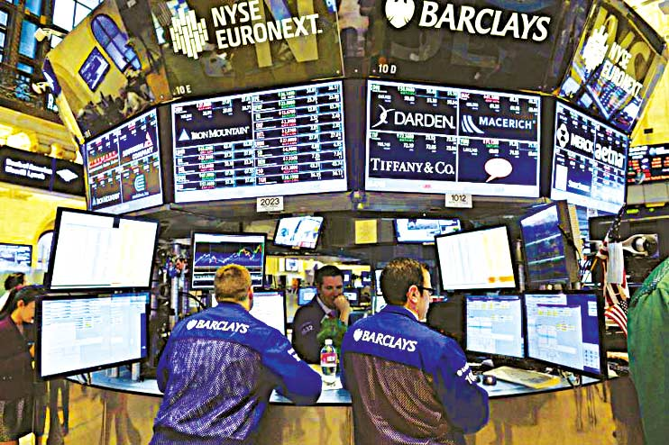 Traders on the floor of New York Stock Exchange