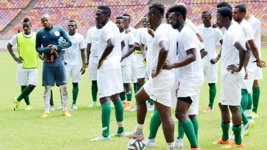 The Super Eagles' foreign-based players are expected to join their home-based counterparts in training… tomorrow. PHOTO: NFF