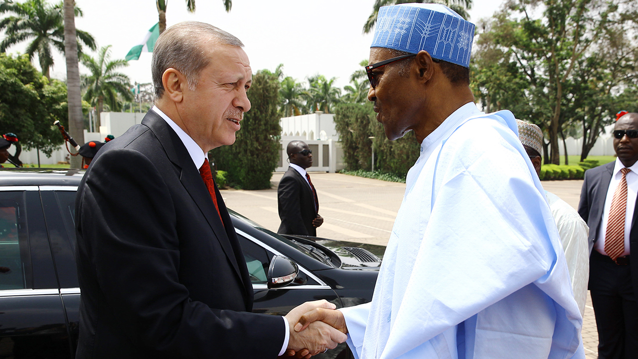 Turkish president erdogan and buhari