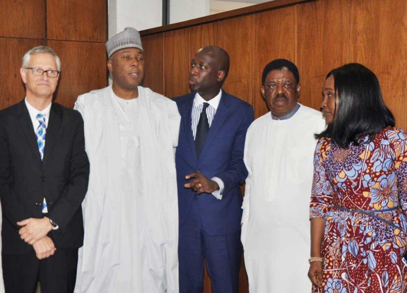 Unilever Africa President, Bruno Witvoet and Senate President, Dr. Bukola Saraki.