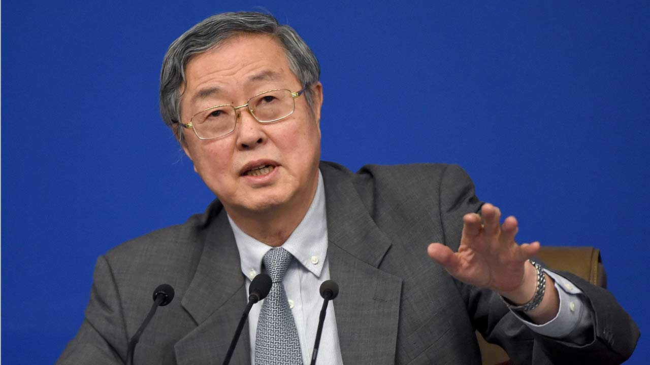 central bank's governor Zhou Xiaochuan