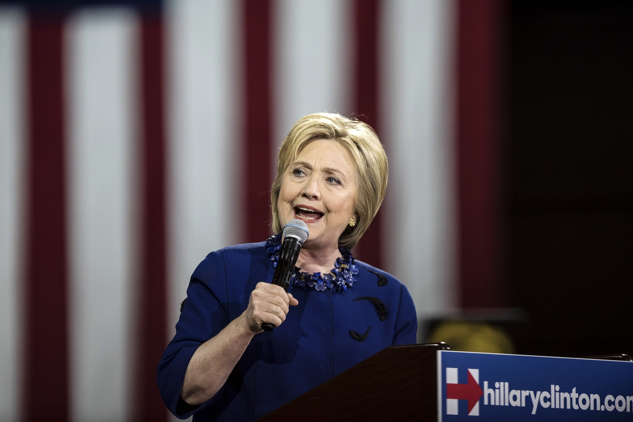 NEW YORK, NY - MARCH 2: Democratic Presidential Candidate Hillary Clinton holds a rally following Super Tuesday on March 2, 2016 in New York City. The former secretary of state won seven states on Tuesday, giving her a lead in the democratic primary.  Andrew Renneisen/Getty Images/AFP