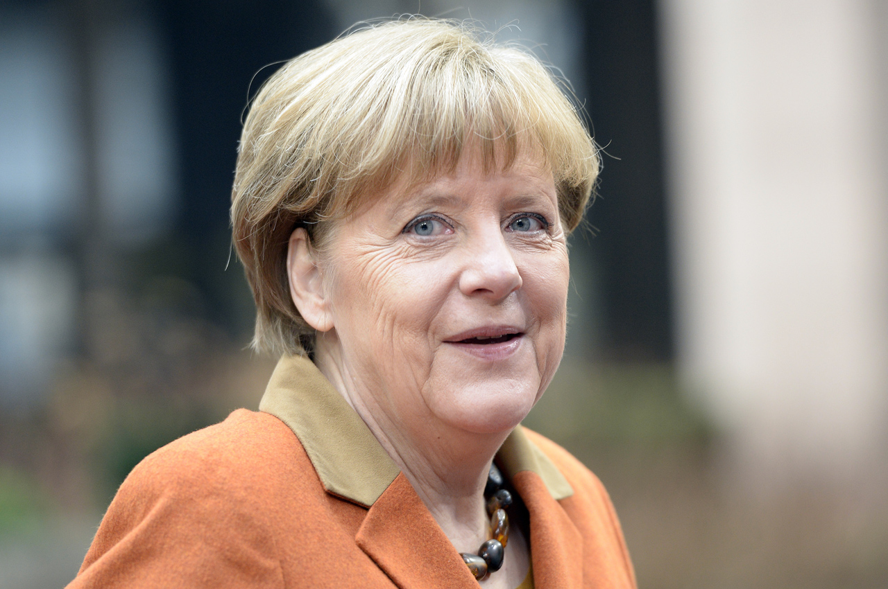 German Chancellor Angela Merkel . / AFP / THIERRY CHARLIER